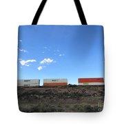 Train Cars Tote Bag