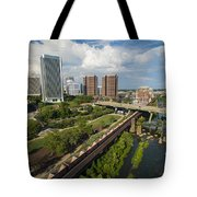 Train Cars Full In Richmond Va Tote Bag