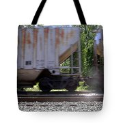 Train Cars With Light Spots Tote Bag