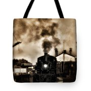 Train Coming In The Station Tote Bag