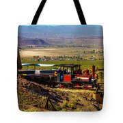 Train Coming Into The Station Tote Bag