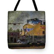 Train Coming Through Tote Bag