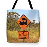 Train Engine Locomotive Sign Tote Bag
