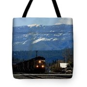 Train Entering Truckee California Tote Bag