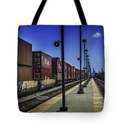 Train From Chicago Tote Bag