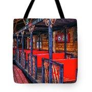 Train In Amusement Park Tote Bag by Gunter Nezhoda