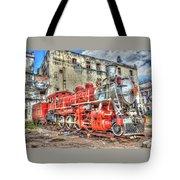 Train In Havana Tote Bag
