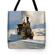 Train In Winter Tote Bag
