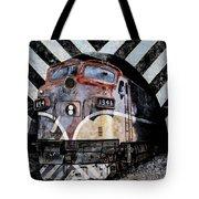 Train Mural Tote Bag