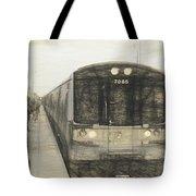 Train Sketch Tote Bag