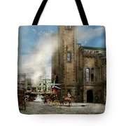 Train Station - Look Out For The Train 1910 Tote Bag