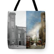 Train Station - Look Out For The Train 1910 - Side By Side Tote Bag