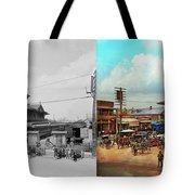 Train Station - Louisville And Nashville Railroad 1912- Side By Tote Bag