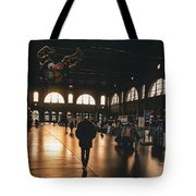 Train Station Sunset Tote Bag