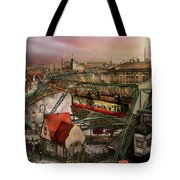 Train Station - Wuppertal Suspension Railway 1913 Tote Bag