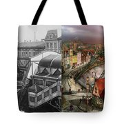 Train Station - Wuppertal Suspension Railway 1913 - Side By Side Tote Bag