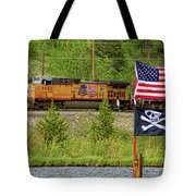 Train The Flags Tote Bag