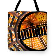 Train Track Abstract Tote Bag
