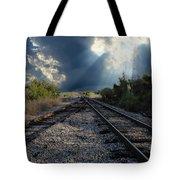 Train Track Junction In Charleston Sc Tote Bag