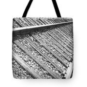 Train Tracks Triangular In Black And White Tote Bag