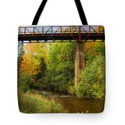 Train Trestle Tote Bag by Michael Peychich
