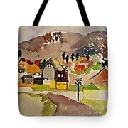 Train Whistle Stop Village  Tote Bag
