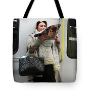 Train Woman Magazine Tote Bag