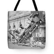 Train Wreck At Montparnasse Station Tote Bag