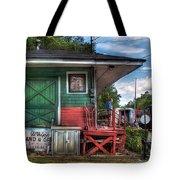 Train - Yard - The Train Station Tote Bag by Mike Savad