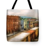 Train - Yard - Train Town Tote Bag