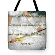 Trained For Battle Tote Bag