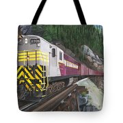 Trainmaster At Myra Tote Bag