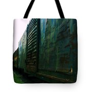 Trains 12 Cross Process Tote Bag
