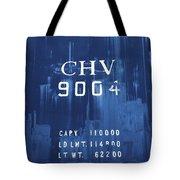 Trains 14 Cyanotype Tote Bag