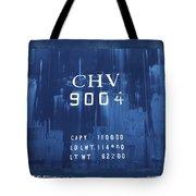 Trains 14 Cyanotype Border Tote Bag