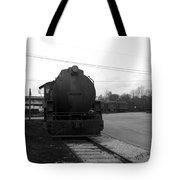 Trains 3 Blkwht Tote Bag