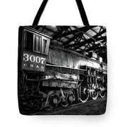 Trains 3007 C B Q Steam Engine Bw Tote Bag