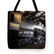 Trains 3007 C B Q Steam Engine Tote Bag