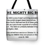 Trains Mighty Big Boy Signage Tote Bag