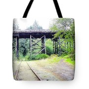 Trains Over And Under Tote Bag