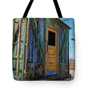 Trains Wooden Box Car Yellow Door Tote Bag