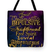 Traits Of A Sagittarius Tote Bag