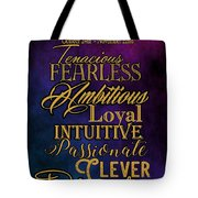 Traits Of A Scorpio Tote Bag by Mamie Thornbrue