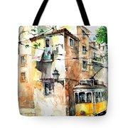 Tram In Lisboa Tote Bag