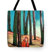 Trampling Through The Woods Tote Bag