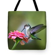Tranquil Joy Hummingbird Square Tote Bag