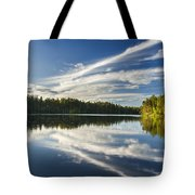 Tranquil Lake In Finland Tote Bag