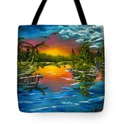 Tranquil Lake Tote Bag