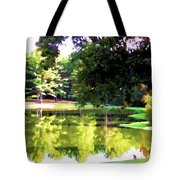 Tranquil Landscape At A Lake 1 Tote Bag