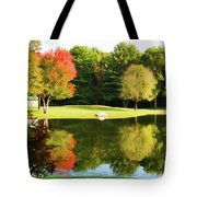 Tranquil Landscape At A Lake 3 Tote Bag